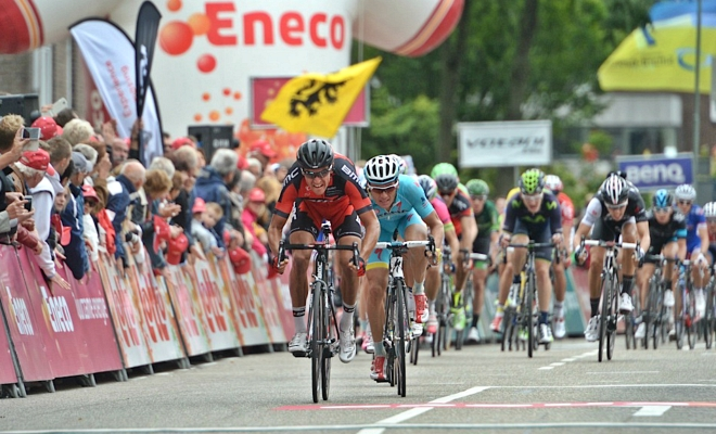 Top vijf in eindklassement Eneco Tour