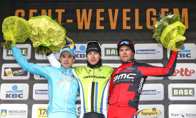 Podium in Gent-Wevelgem