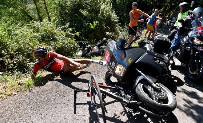 Motorrijder houdt Greg van winst in Clásica