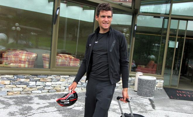 Ploegmaat Frank leider in Tour de Suisse