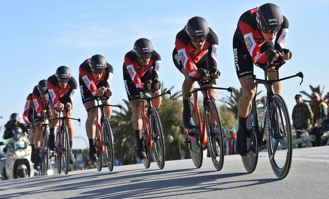 Ploegentijdrit Tirreno opnieuw voor BMC!