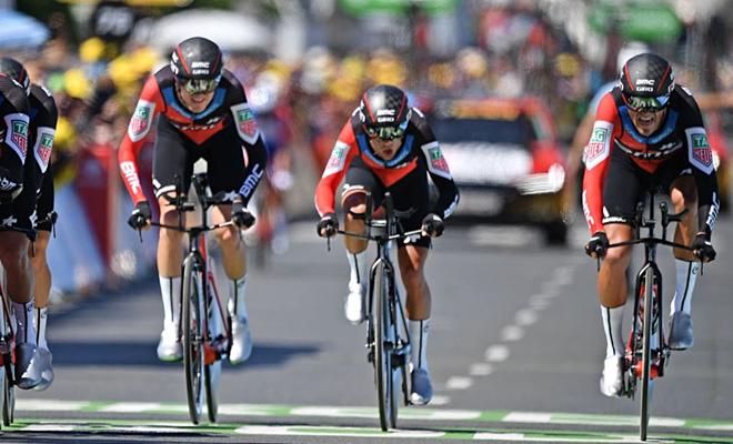 Gele trui via ploegentijdritwinst in de Tour!